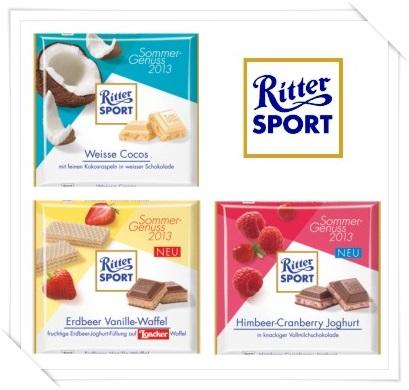 Ritter Sport Sommer Sorten 2013